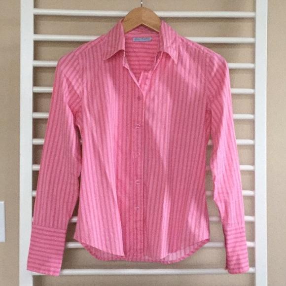 d9c250ae Pixie Hopkins Tops   Pink Striped Button Down Shirt Xs   Poshmark